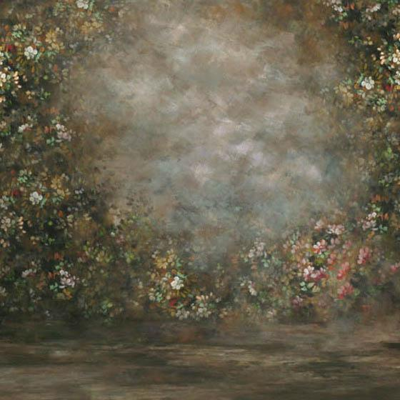 Abstract Flower Portrait Photo Booth Backdrops  G-438