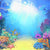 Under The Sea  Coral Ocean Baby Photo Backdrop G-498