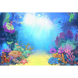 Baby Backgrounds Cartoon Fairytale Backdrop Sea Backdrop G-498