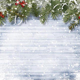 Christmas Snowflake Decoration Wood Wall Backdrop for Photography G-519