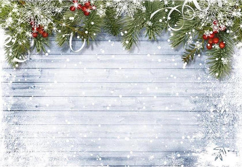 Christmas Backdrops Photo Backdrop Snow Background G-519