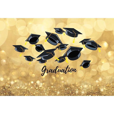 Graduation Backdrop Golden Backdrop G-538