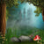 Cartoon Forest Castle Fairytale Photography Backdrops  G-567