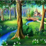 Cartoon Forest Castle Photo Studio Backdrops G-583