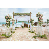 Wedding Backdrops Beach Backdrop Flowers Background G-587