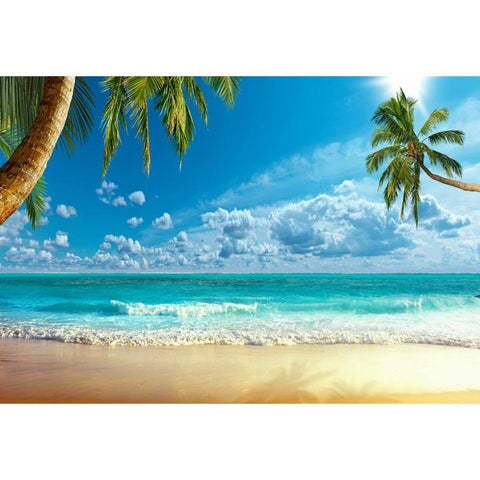 Summer Sea Beach Blue Sky Photo Studio Backdrop G-598