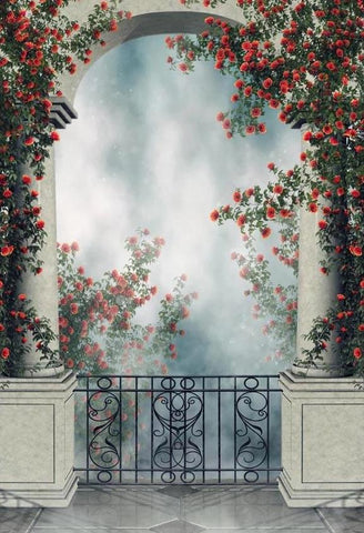Flowers Backdrops Door Backgrounds G-618