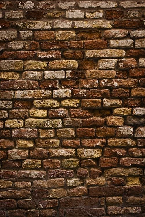 Weathered Stained Old Brick Wall Background Photo Backdrop G-63