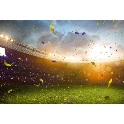 Stadium Confetti  Green Lawn Champion Photo Backdrop G-679