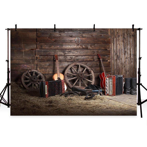 Barn Cabin Rural Wooden House Photography Backdrop G-735