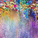 Beautiful Purple Flower Painting Backdrop for Photo Studio  G-771
