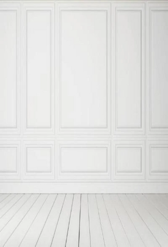 Classic White Interior with Wooden Floor Backdrop for Photos GC-78