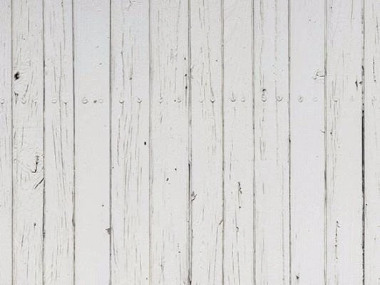 White Vintage Wood Plank Photo Booth Backdrop G-91
