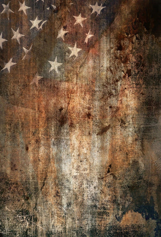 Independence Day Patriotic Grunge Wood Backdrop GA-14