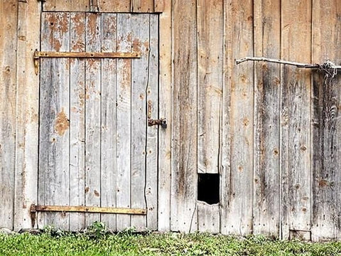 Rustic Barn Door Wooden Photography Backdrop GA-3