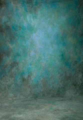 Shades of Blue and Green Abstract Texture Studio Backdrop GA-53