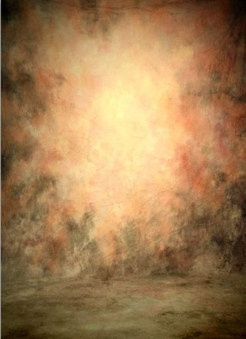 Abstract Peach Colors with Brighter Center Spot Studio Backdrop GA-54