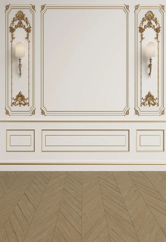 Classic Interior Wall with Mouldings Backdrop for Photos GA-68