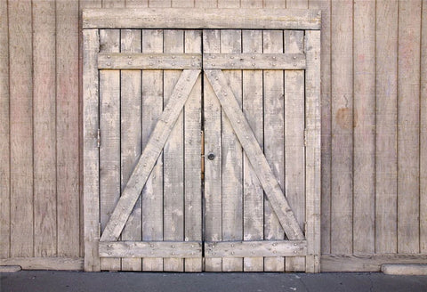 Retro Wooden Barn Door Backdrop for Photo Booth GA-69