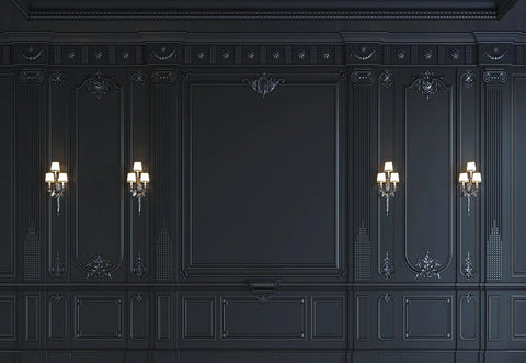Black Classic Wooden Wall Door Backdrop for Photo Booth GA-71