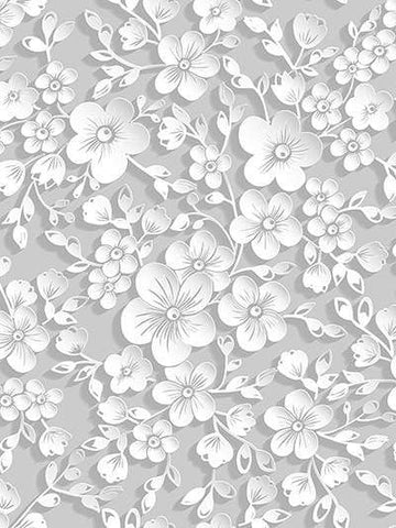 White Retro Flowers Backdrops for Photography GC-117