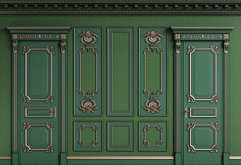Green Classic Door Wall Photography Backdrop GC-131