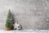 Christmas Tree Stars Snow Backdrops for Christmas Party GX-1053