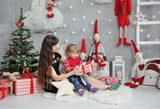 Cute Toys Gifts Gray Christmas Background GX-1064
