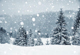 Gray Snow Scene Backdrops for Christmas GX-1074