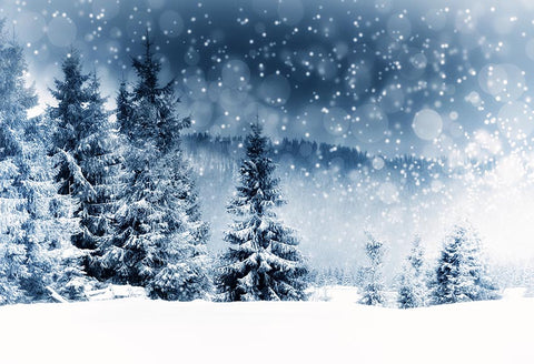 Snow Fir Forest Backdrops for Christmas GX-1075