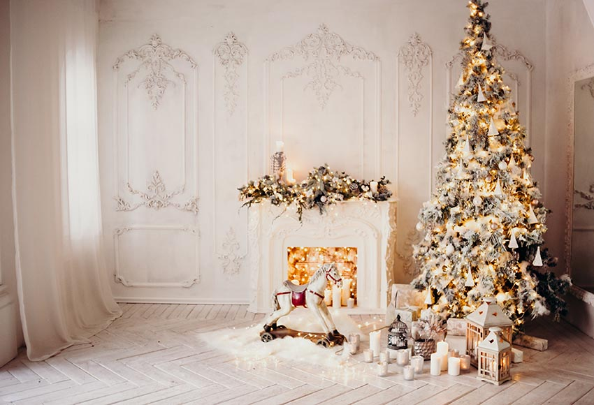 Christmas Interior Decoration White Backdrop for Photography GX-1083