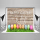 Easter Eggs Wood Photo Backdrop for Happy Easter Party HJ02926