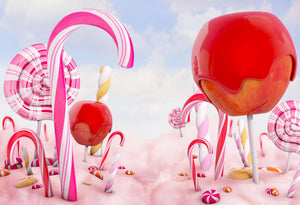 Candy Pink Backdrops for Children Photography HJ03171