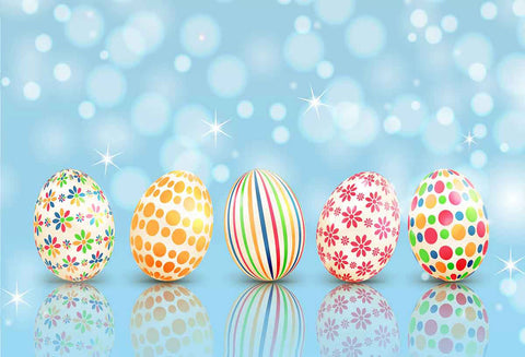Easter Backdrops Blue Backdrops Colored Eggs Backgrounds