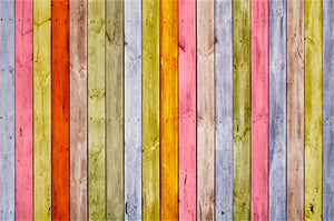 Beautiful Colorful Wood Photo Backdrops  for Photography  HJ03817