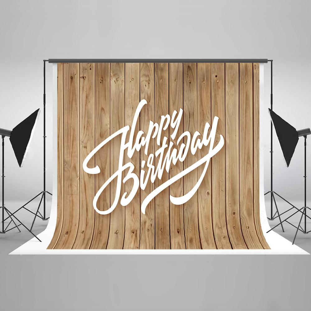 Happy Birthday Backdrop Wooden Backdrop HJ04266