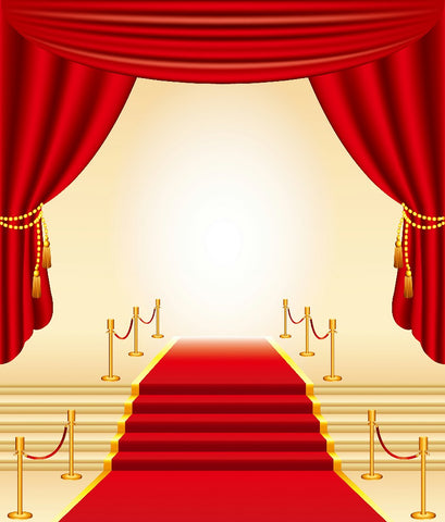 Red Carpet Hollywood Theme Stage Backdrops for Photography DBD-19430