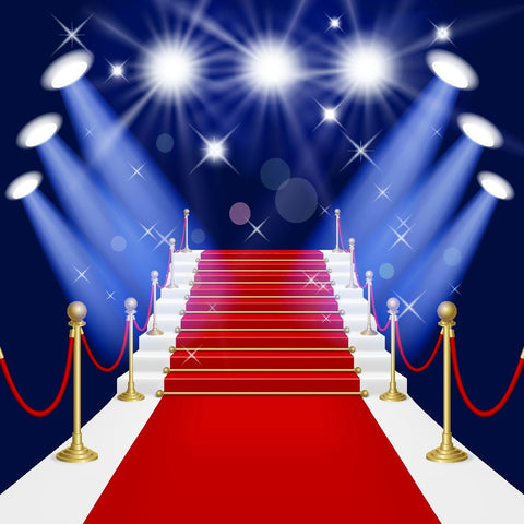 Red Carpet Hollywood Theme Party Decorations Photo Backdrops DBD-19434