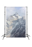 Winter Snow Mountain Photo Booth Backdrop  J02812