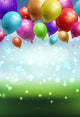 Balloon Bokeh Photo Backdrops for Birthday Decoration J03147