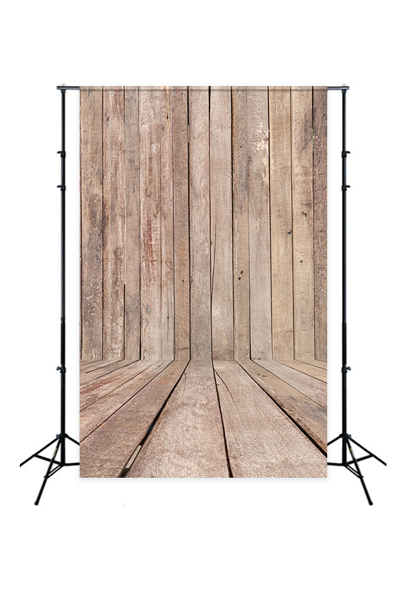 Retro Style Wood Backdrop for Baby Photography