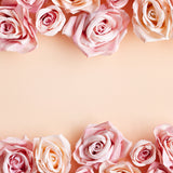 Valentine's Day Flowers Brown Photography Backdrop J03229