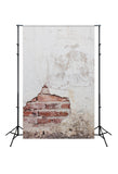 Retro Damaged Brick Wall Backdrops for Pictures