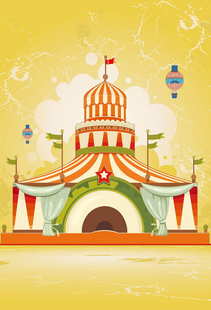 Baby Backdrops Circus Background Yellow Backdrop J04299