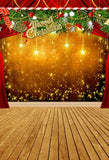 Christmas Lights Red Curtain Photography Backdrop L-855