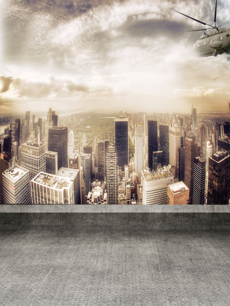New York City Central Park Tall Buildings Backdrop for Studio LK-2959