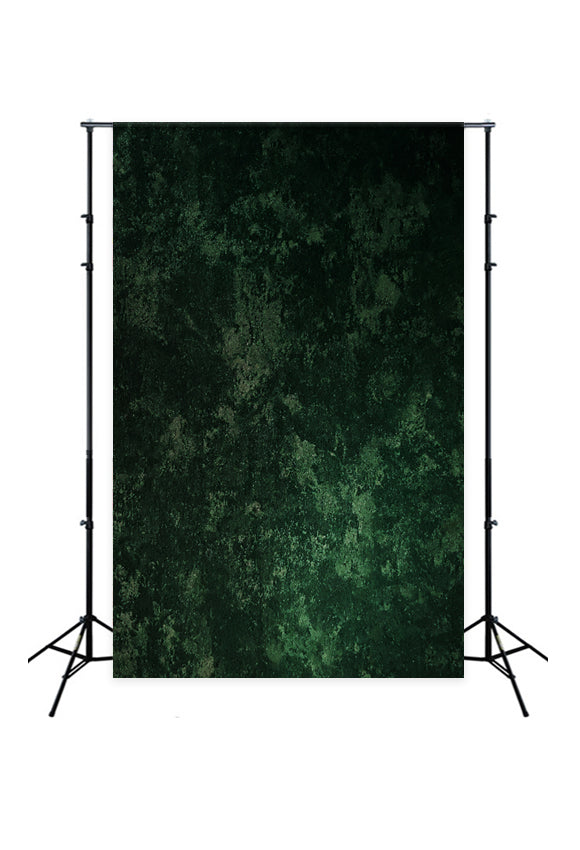 Deep Green Black Spot Abstract Backdrop LM-01389