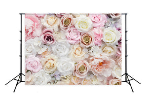 Printed Flower Wall Backdrop for Photo Booth LM-H00112