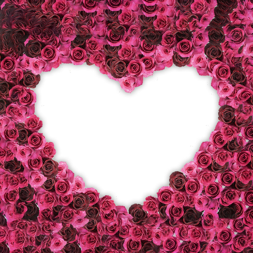 Heart Flower Wall Backdrops for Events Photography LM-H00117