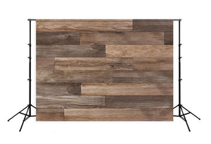 Grunge Dark Wood Wall Photo Backdrop LM-H00196